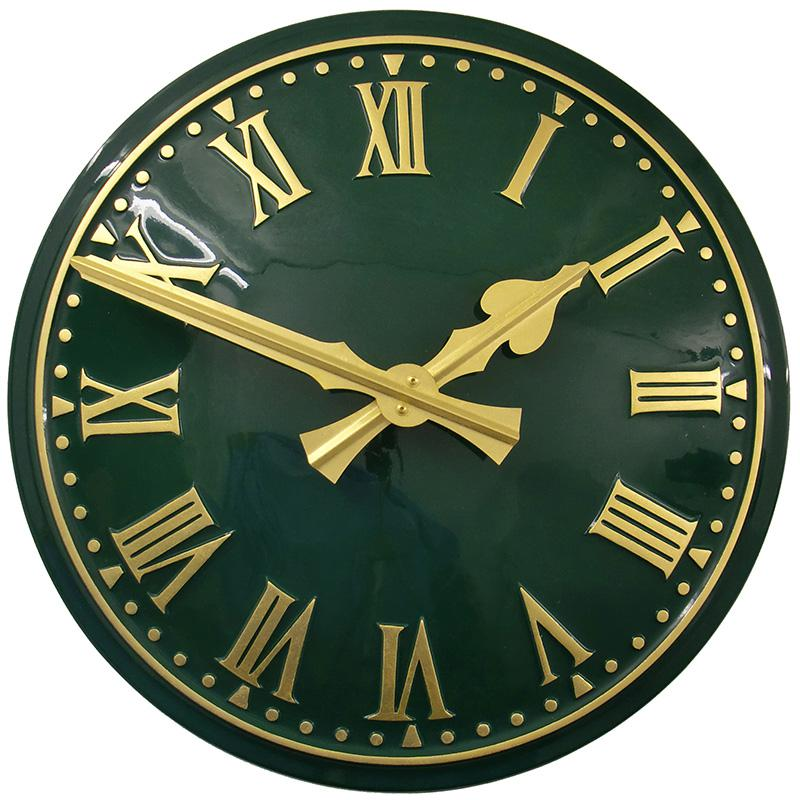 Holly Green Convex Clock