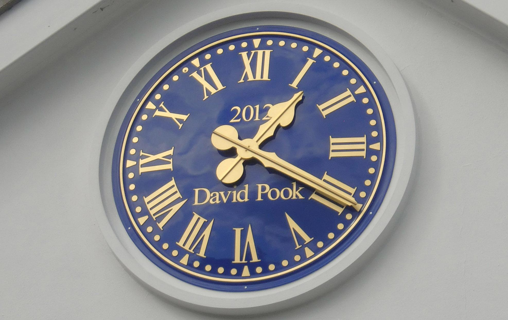 Blue Outdoor Clock