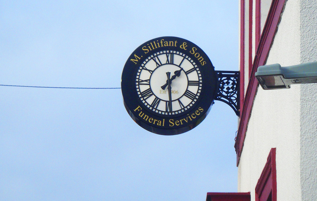 Funeral Services Clock